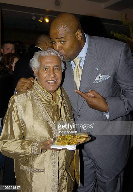Kumar Pallana and Chi McBride during The Terminal World Premiere After Party at Academy of Motion Picture Arts and Science in Beverly Hills...