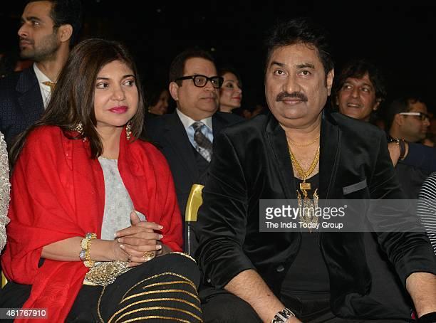 Kumar Sanu and Alka Yagnik in Life ok screen awards 2015
