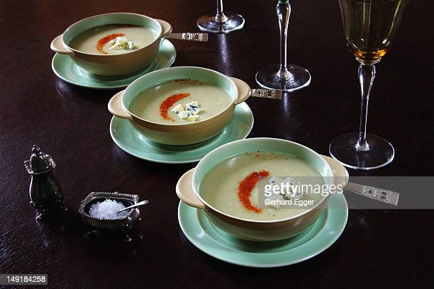 Kumara and blue vein soup