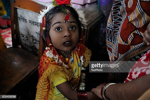 Kumari is being worshipped by devotees during the Rama Navami Festival celebrated on the ninth day of the month of Chaitra in the Hindu calendar, on...