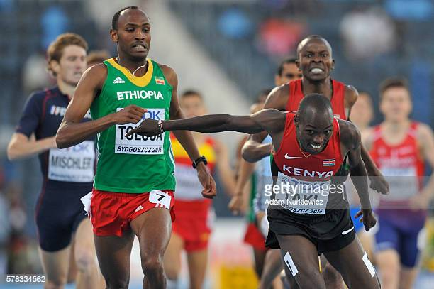 Kumari Taki from Kenya competes in men's 1500 metres during the IAAF World U20 Championships at the Zawisza Stadium on July 21 2016 in Bydgoszcz...