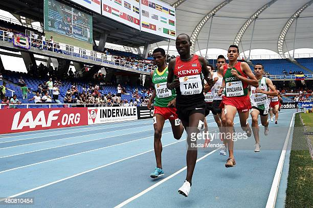 Kumari Taki of Kenya in action during round one of the Boys 1500 Meters on day one of the IAAF World Youth Championships Cali 2015 on July 15 2015 at...