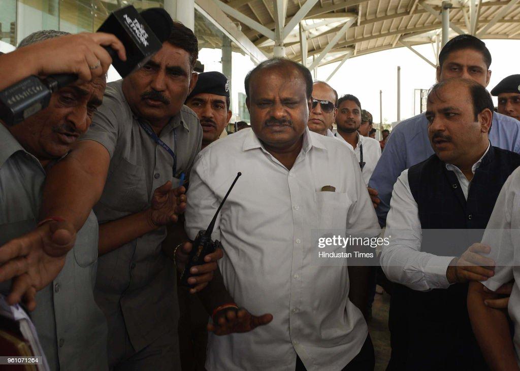 Karnataka Chief Minister Designate H D Kumaraswamy Meets Congress President Rahul Gandhi, UPA chairperson Sonia Gandhi And BSP Supremo Mayawati