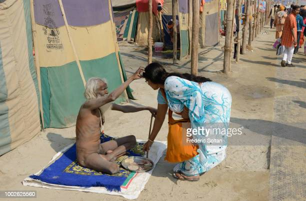Kumbh camp in Allahabad for pilgrims and sadhus The Kumbh Mela is a mass Hindu pilgrimage of faith in which Hindus gather to bathe in a sacred river...