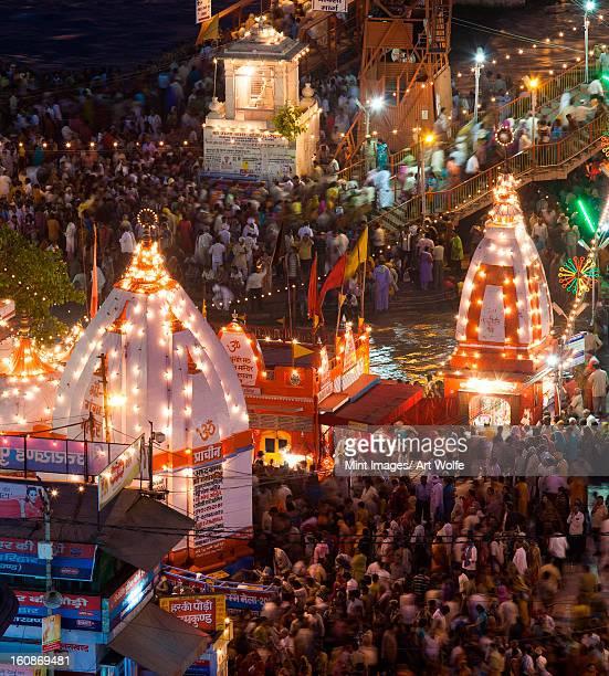 kumbh mela, haridwar, india - kumbh mela stock pictures, royalty-free photos & images