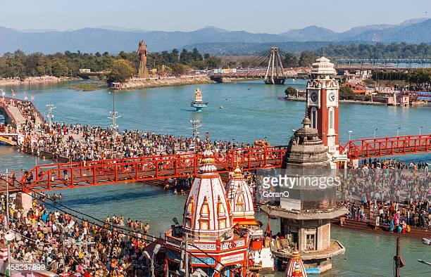 kumbh mela in haridwar - kumbh mela stock pictures, royalty-free photos & images