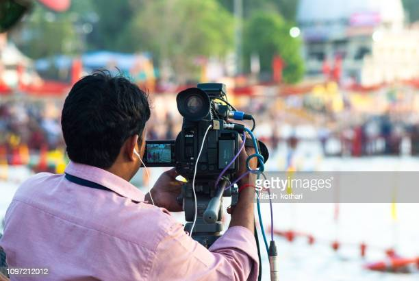 kumbh mela - journalist stock pictures, royalty-free photos & images