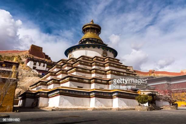 Kumbum stupa at Palcho monastery, a symbol of Gyantse in Tibet, China