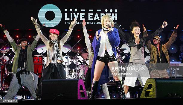 Kumi Koda performs on stage at the Tokyo leg of the Live Earth series of concerts, at Makuhari Messe, Chiba on July 7, 2007 in Tokyo, Japan. Launched...