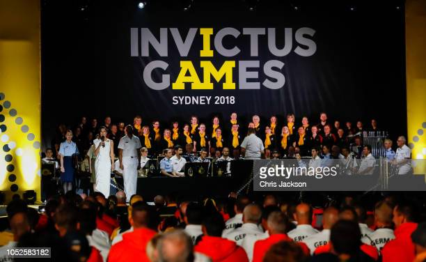 Kumi Taguchi on stage during the Invictus Games Sydney 2018 Opening Ceremony at Sydney Opera House on October 20 2018 in Sydney Australia