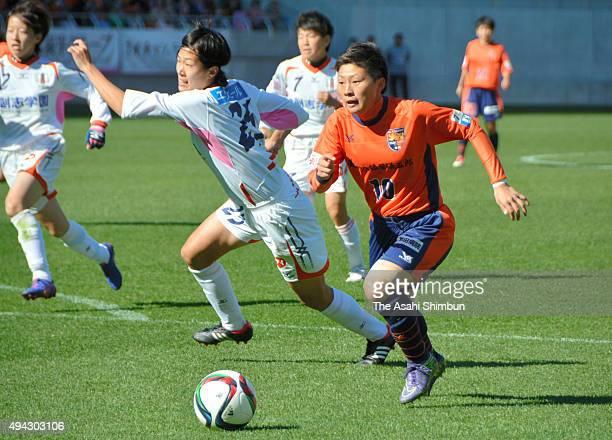 Kumi Yokoyama of AC Nagano Parceiro Ladies in action during the Nadeshiko League second division match between AC Nagano Parceiro Ladies and Ehime FC...