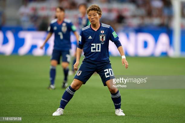 Kumi Yokoyama of Japan during the 2019 FIFA Women's World Cup France group D match between Japan and England at Stade de Nice on June 19, 2019 in...