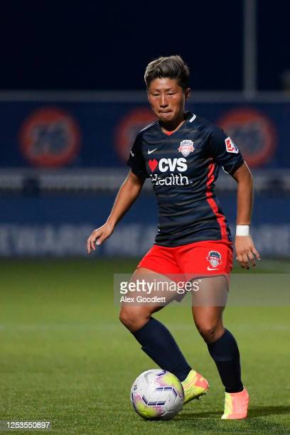 Kumi Yokoyama of the Washington Spirit in action during a game against the Chicago Red Stars in the first round of the NWSL Challenge Cup at Zions...