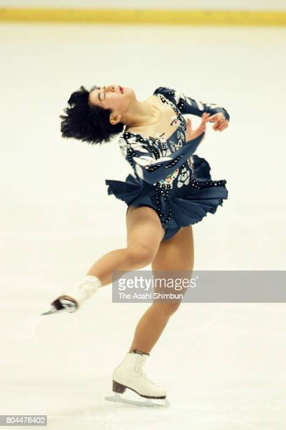 Kumiko Koiwai competes in the Women's Singles Free Program during the 62nd All Japan Figure Skating Championships at Shin Yokohama Prince Hotel Skate...