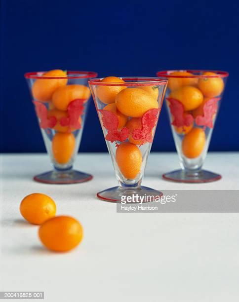 kumquats in glasses