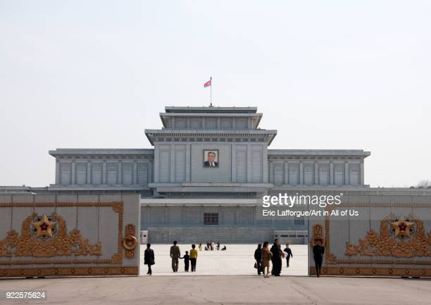 Kumsusan memorial palace entrance, Pyongan Province, Pyongyang, North Korea on April 25, 2010 in Pyongyang, North Korea.