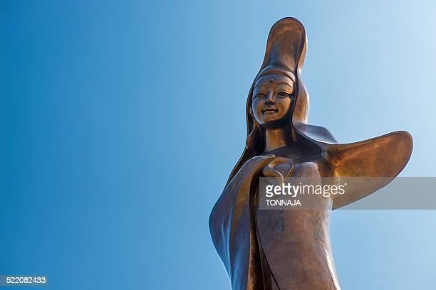 kun iam statue in macau - guanyin bodhisattva foto e immagini stock