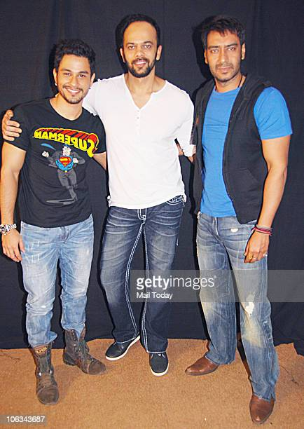Kunal Khemu Rohit Shetty and Ajay Devgan at a promotional event for Golmal 3 in Mumbai on October 25 2010