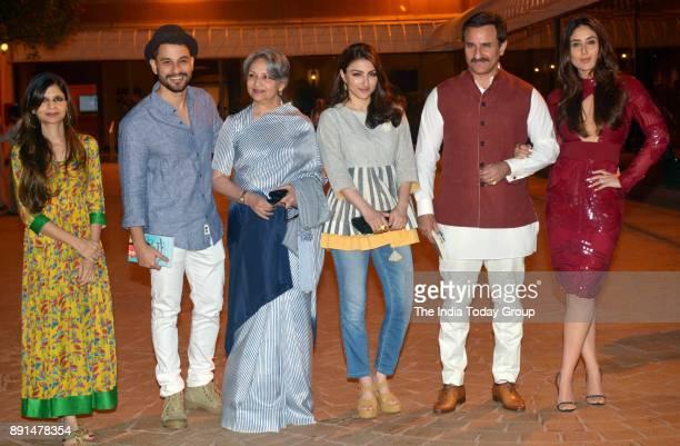 Kunal Khemu Sharmila Tagore Soha Ali Khan Saif Ali Khan Kareena Kapoor Khan and Saba Ali Khan at Soha Ali Khans book 'The Perils Of Being Moderately...