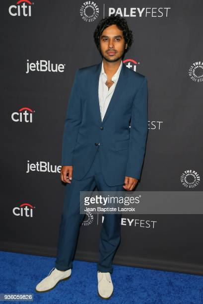 Kunal Nayyar attends the 2018 PaleyFest Los Angeles CBS's 'The Big Bang Theory' And 'Young Sheldon' on March 21 2018 in Hollywood California