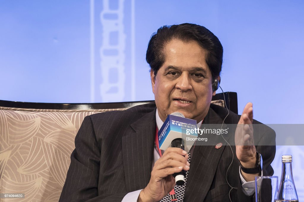 Kundapur Vaman Kamath, president of the New Development Bank BRICS, speaks during the Lujiazui Forum in Shanghai, China, on Thursday, June 14, 2018. China's central bank is studying policies to boost loans to smaller firms, People's Bank of China Governor Yi Gang said in a speech to the annual forum. Photographer: Qilai Shen/Bloomberg via Getty Images