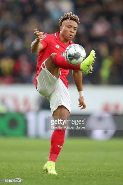Kunde Malong of 1.FSV Mainz 05 in action during the Bundesliga match between 1. FSV Mainz 05 and Borussia Dortmund at Opel Arena on December 14, 2019...