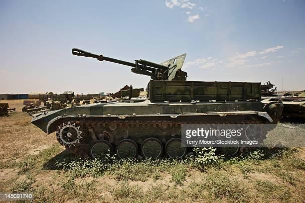 Kunduz, Afghanistan - Old Russian BMP-1 infantry fighting vehicle.