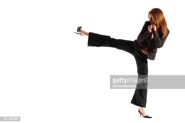 kung-fu affaires (mettez votre texte ici - donner un coup de pied photos et images de collection