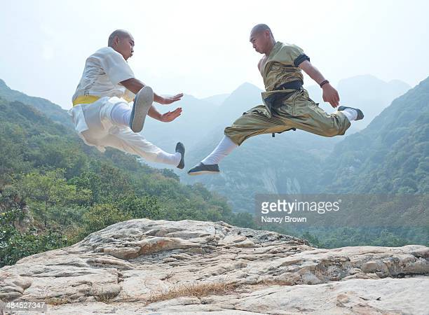 TWO Kung Fu Experts on Song Mt. Henan China.
