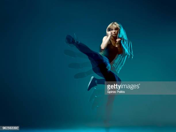 Kung fu kicking girl