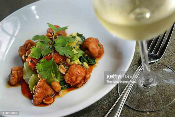 Kung Pao Sweet Breads at The Green Pig Bistro in Arlington VA on June 9 2013 The menu sports several dishes $20 and under that even an intern can...