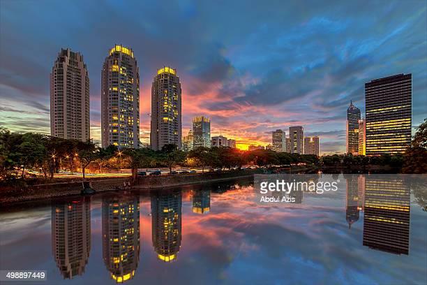 Kuningan Bridge, Jakarta at sunset