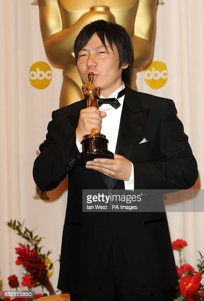 Kunio Kato with the Best Short Animation award received for La Maison En Petits Cubes at the 81st Academy Awards at the Kodak Theatre Los Angeles