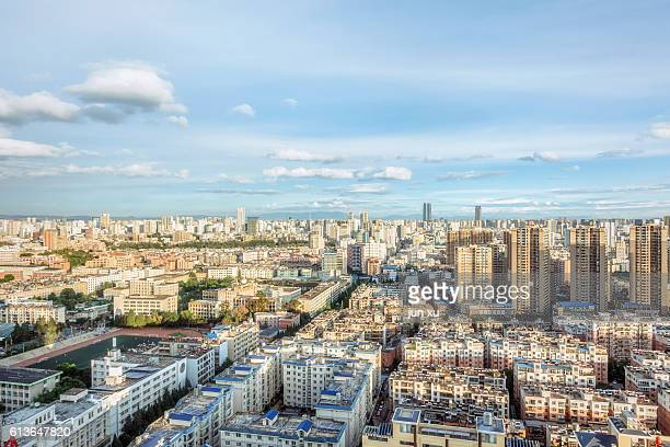 kunming city of yunnan province under construction - kunming stock photos and pictures
