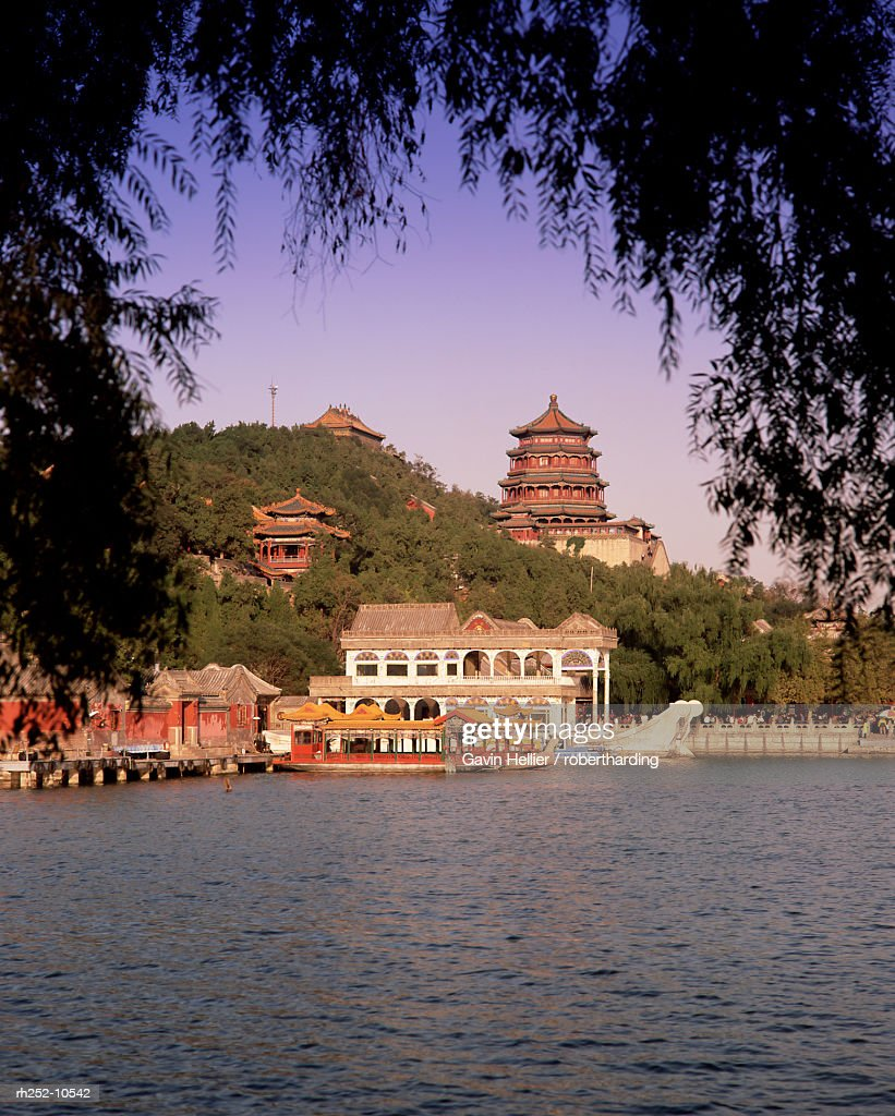 Kunming Hu Lake, Summer Palace Park, Summer Palace, Beijing, China, Asia : Foto de stock