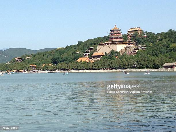 Kunming Lake With Summer Palace Against Blue Sky