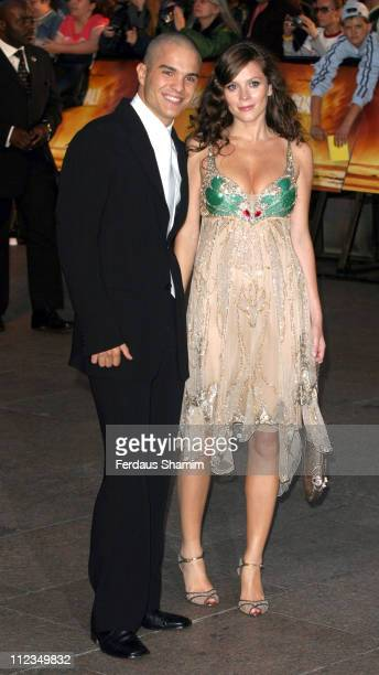 """Kuno Becker and Anna Friel during """"Goal!"""" London Premiere - Arrivals at Odeon Leicester Square in London, Great Britain."""