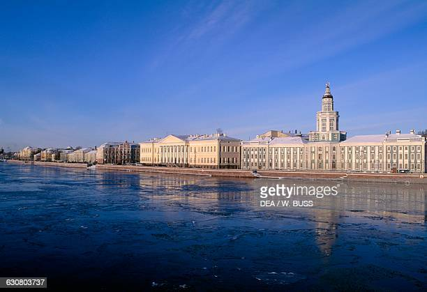 Kunstkamera now the seat of the Museum of Anthropology and Ethnography along the Neva river Saint Petersburg Russia 18th century