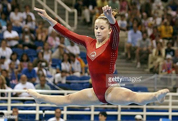 Kunstturnen Olympische Spiele Athen 2004 Athen Mehrkampf / Boden / Einzel / Frauen Finale Carly PATTERSON / USA / Gold 190804