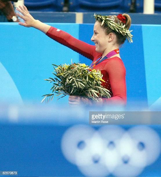 Kunstturnen: Olympische Spiele Athen 2004, Athen; Mehrkampf / Einzel / Frauen; Finale; Carly PATTERSON / USA / Gold 19.08.04.