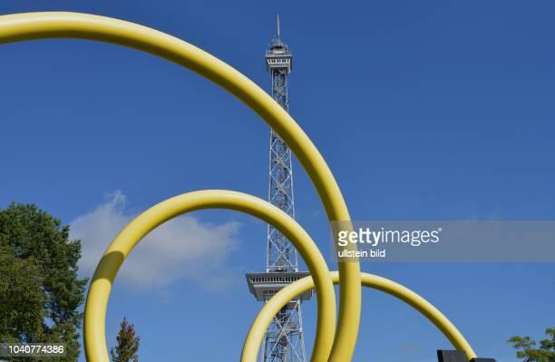 Kunstwerk Ursula Sax ´Looping 1992´ Funkturm Messedamm Westend Charlottenburg Berlin Deutschland