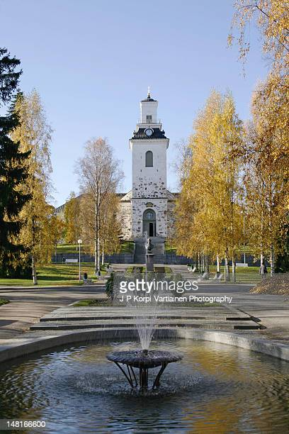 Kuopio Cathedral in autumnal colors