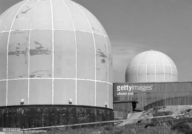 KuppelBauten auf dem Brocken aufgenommen imFebruar 1993 Als StasiMoschee bezeichnet war hier neben einer Abhöreinrichtung des sowjetischen...