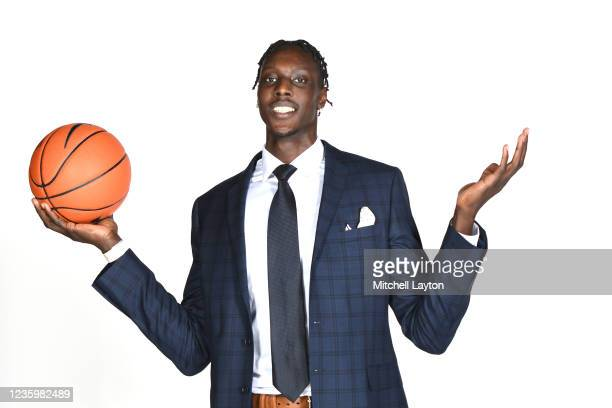 Kur Kuath of the Marquette Golden Eagles poses for a photo during the Big East Media Day at Madison Square Garden on October 19, 2021 in New York...