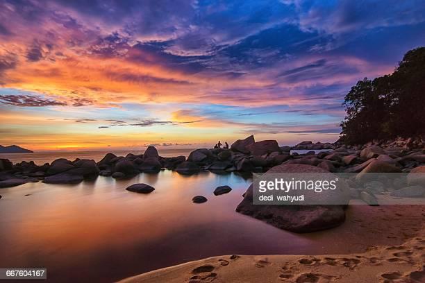 Kura-Kura Beach at sunset, Singkawang, Indonesia