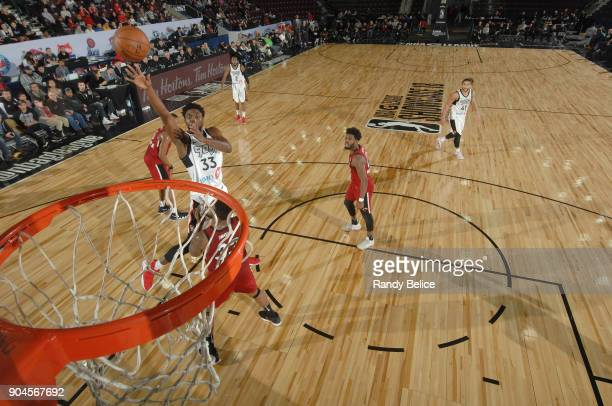 Kuran Iverson of the Raptors 905 shoots the ball during the NBA GLeague Showcase Game 22 between the Sioux Falls Skyforce and the Raptors 905 on...