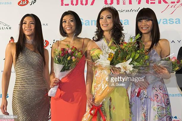 Kurara Chibana Miss Universe Japan 2006 Akiko Chubachi Miss Universe Japan 2007 2nd runner up Riyo Mori Miss Universe Japan 2007 and Rei Hamada Miss...