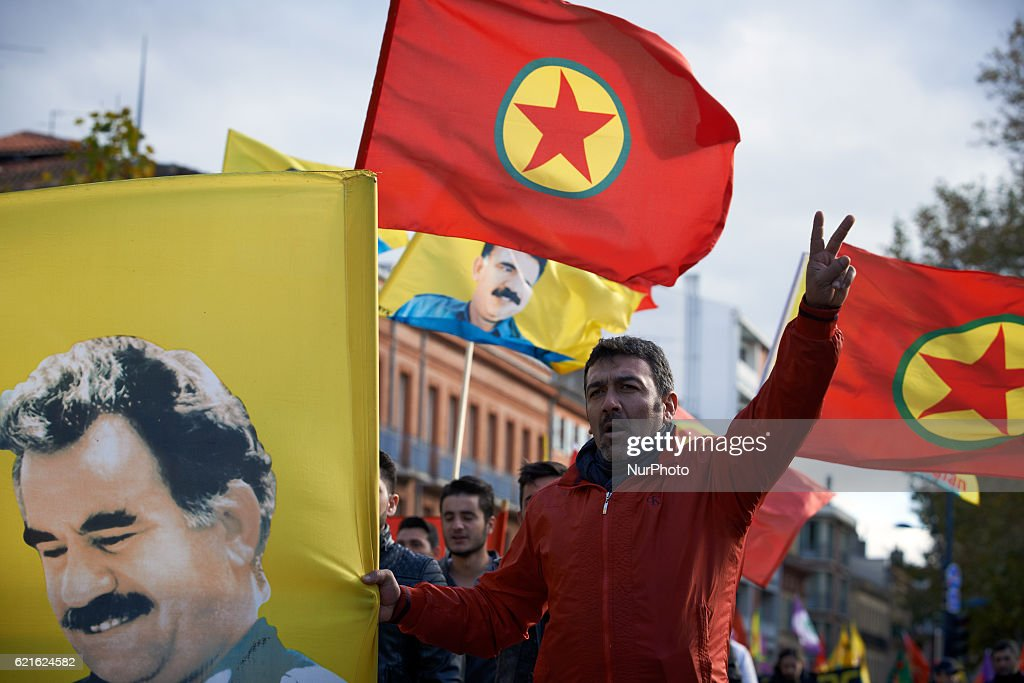 Kurdish Diaspora Protest Against Turkish President Erdogan In Toulouse : News Photo
