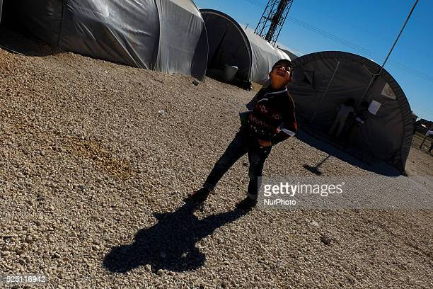 A Kurd refugge boy in a refugge camp in the Turkish city of Suruc Sanliurfa province wich is located 6 kilometres far from the Syrian town of Kobani...