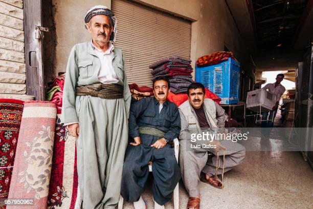 Kurdish carpet vendors